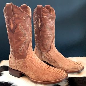 RESISTOL RANCH LUCCHESE Ostrich Exotic Boots 7.5